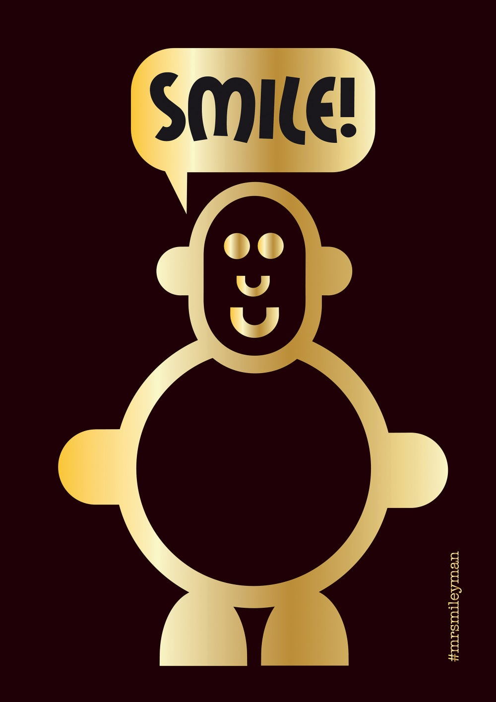 Mr Smileyman Black and Gold Smile