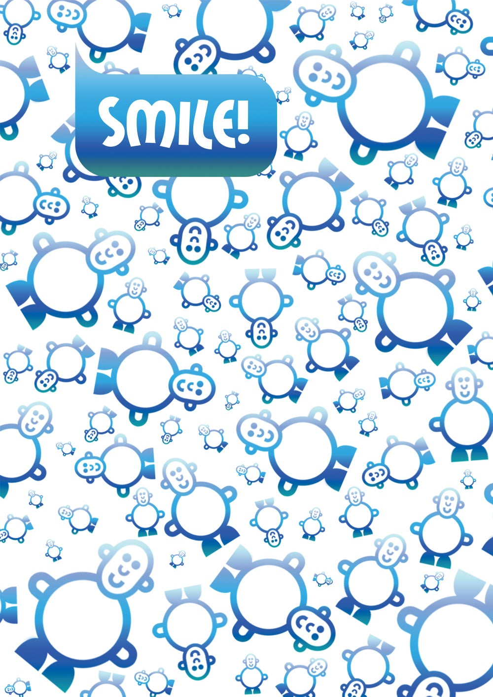 Mr Smileyman Blue Pattern Smile