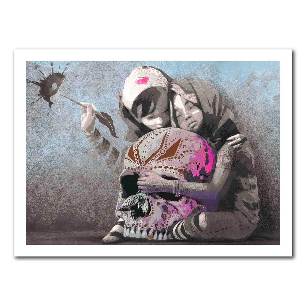 Image of AFK - Hug the world (Handfinished 70x100)