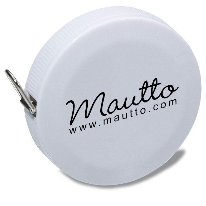 Image of Mautto White Tape Measure - Inches (max 60in) & Centimeters (max 150cm) - Free Shipping to USA