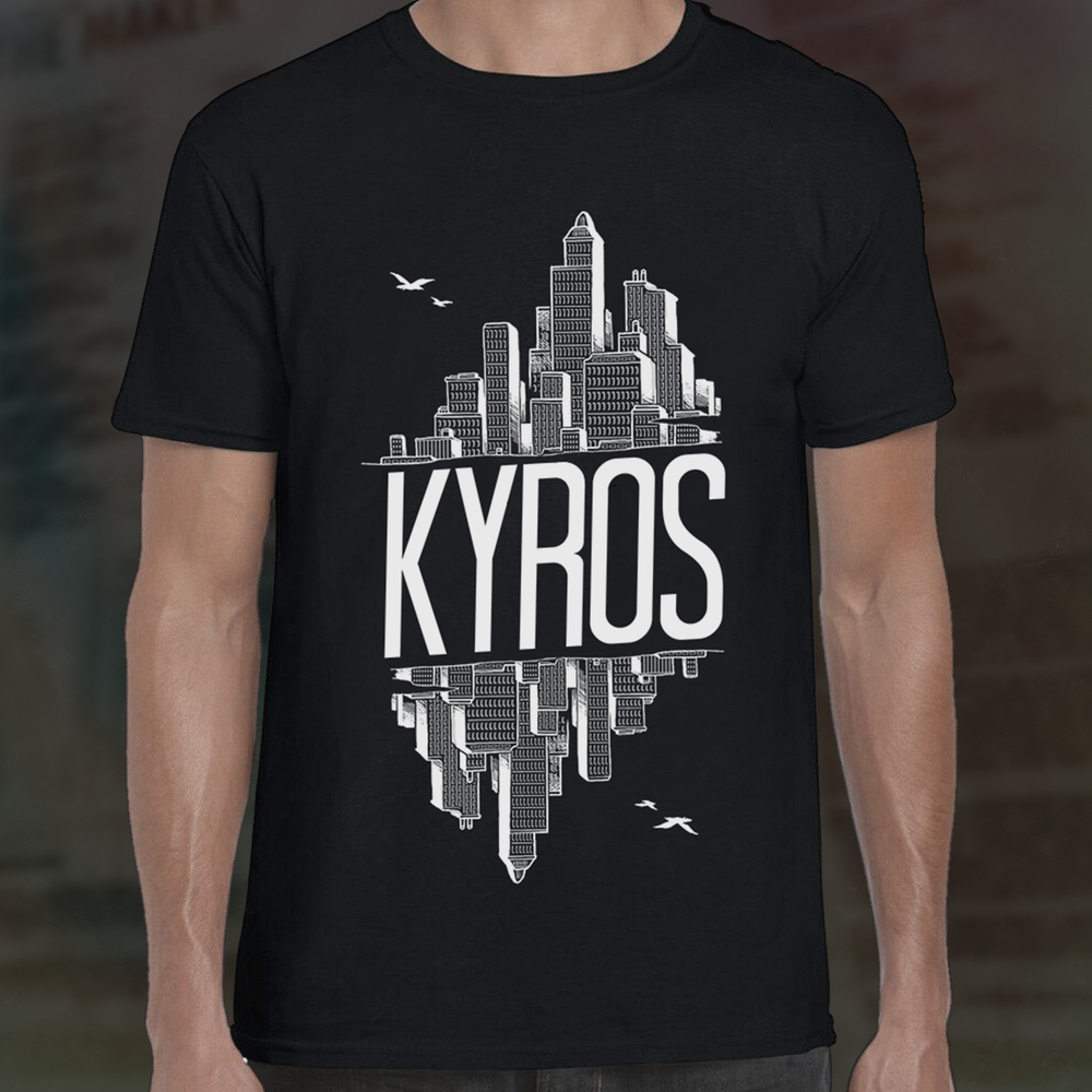 Image of KYROS - Skyline Tee - Black