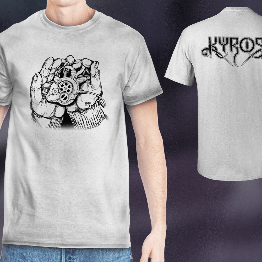 Image of KYROS - Clockwork Heart - Grey T-Shirt
