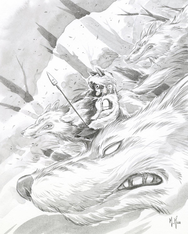 "Mononoke & Howl's Moving Castle 11 x 14"" Prints"