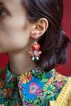 Deli Earrings - Mrs Blue Sky - Boucles brodées