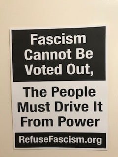 Image of Fascism Cannot Be Voted Out, The People Must Drive it From Power pack of 6