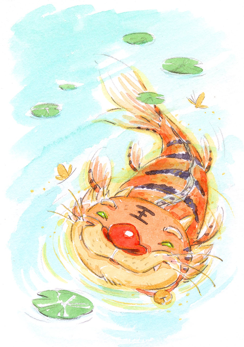 "Tiger Koi 3-Pack 5 x 7"" Prints"