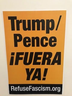 Image of Trump/Pence Out Now- Trump/Pence Fuera Ya 13x19
