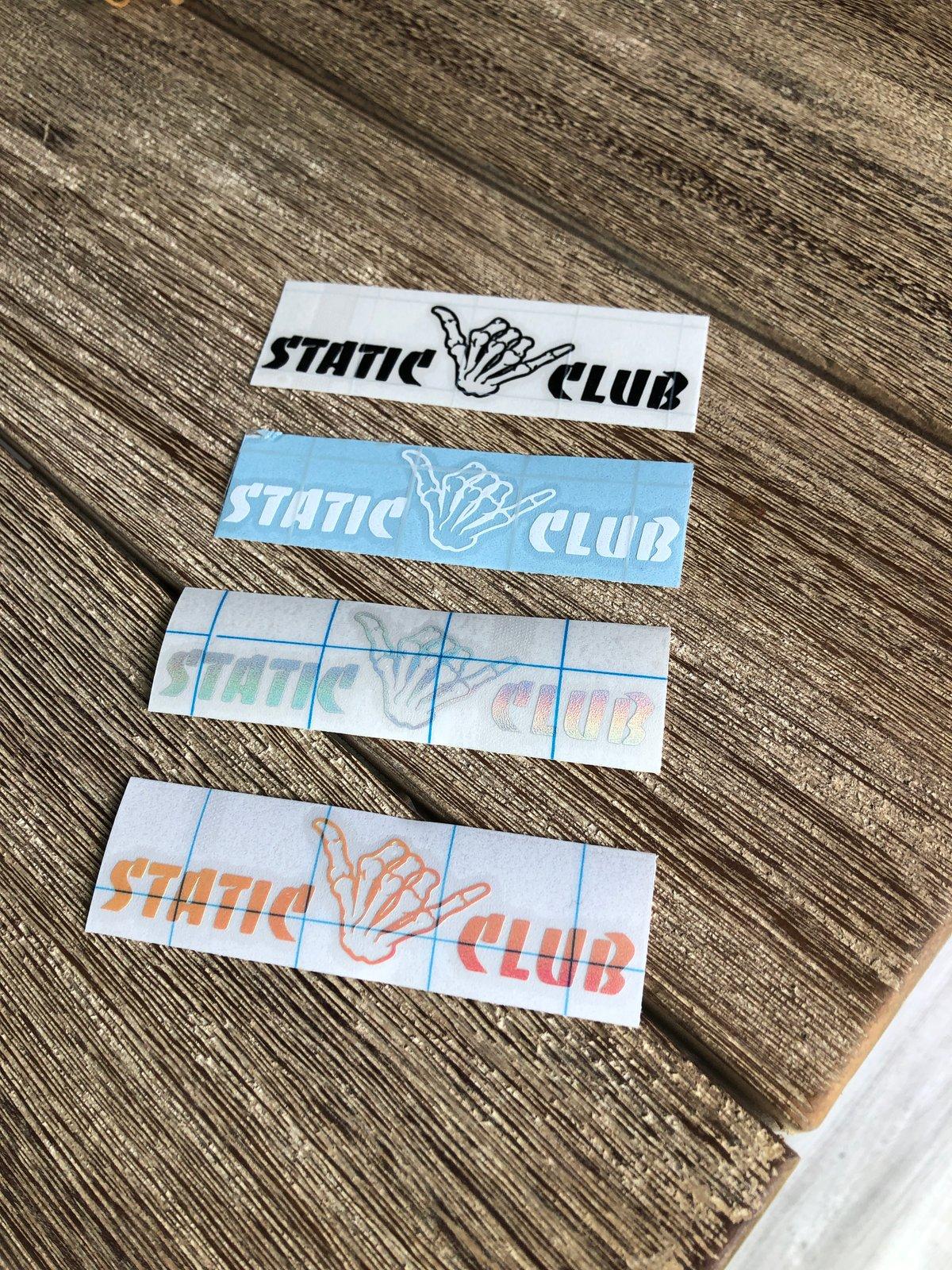 Static Club Mini Banger (decal)