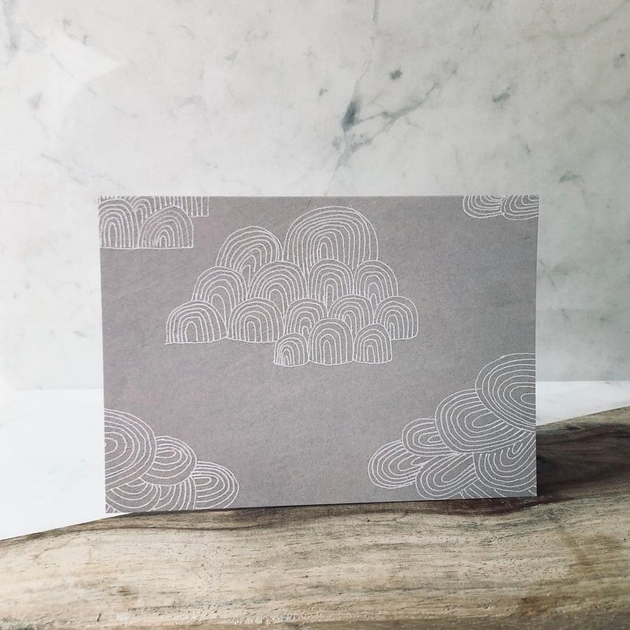 Image of Clouds Greetings Card