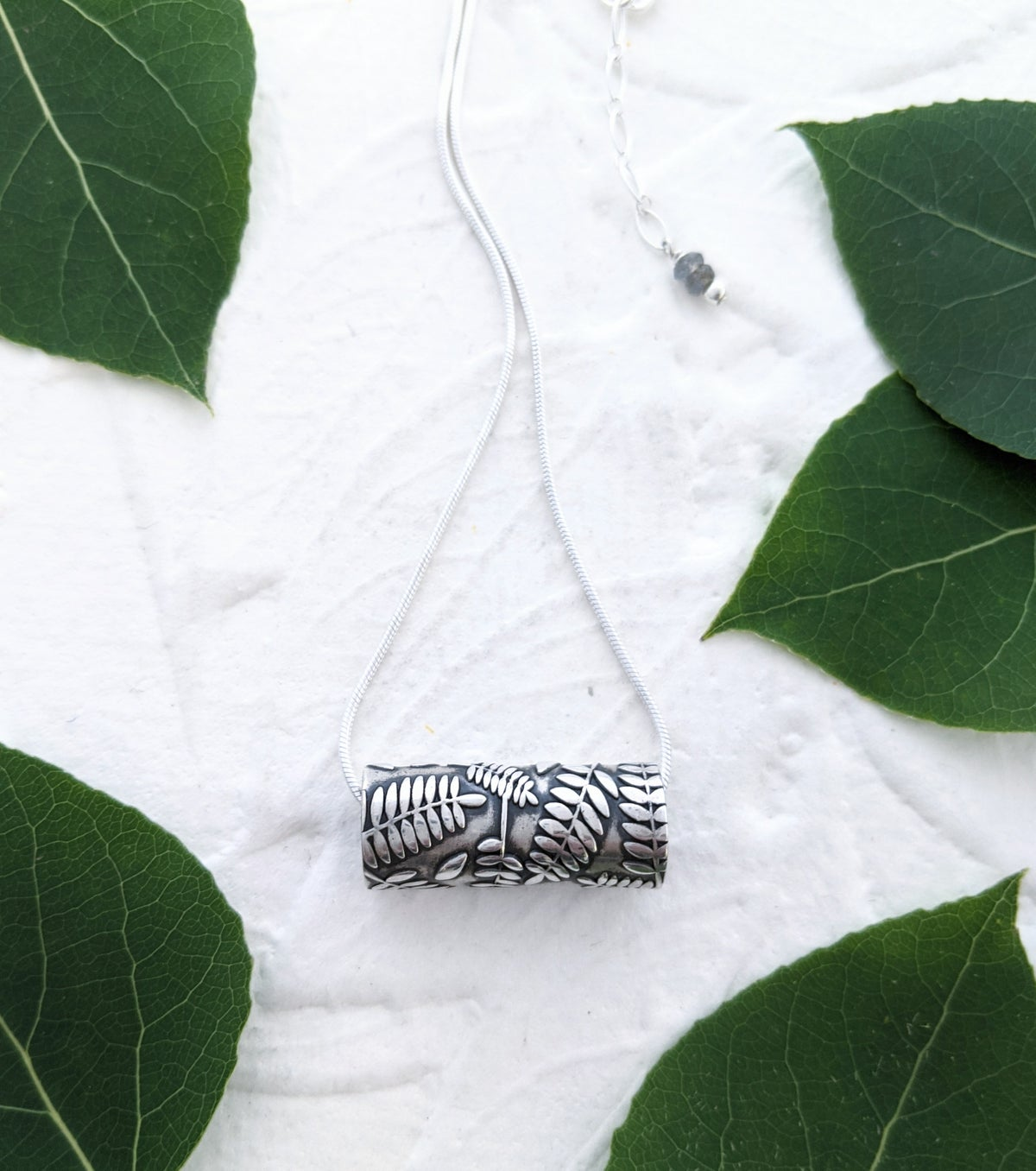 Image of Rolled Rock Fern Pendant Necklace
