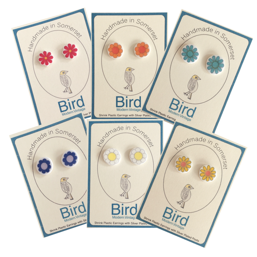 Bird Modern Vintage -Earrings Flower Collection