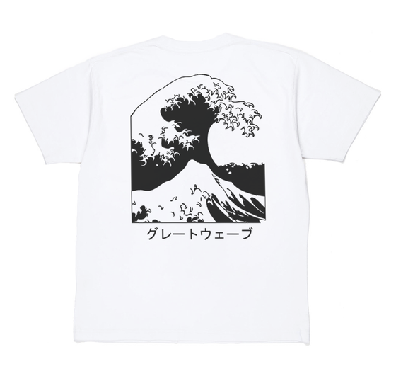 "Image of ""WAVE"" TEE WHITE"
