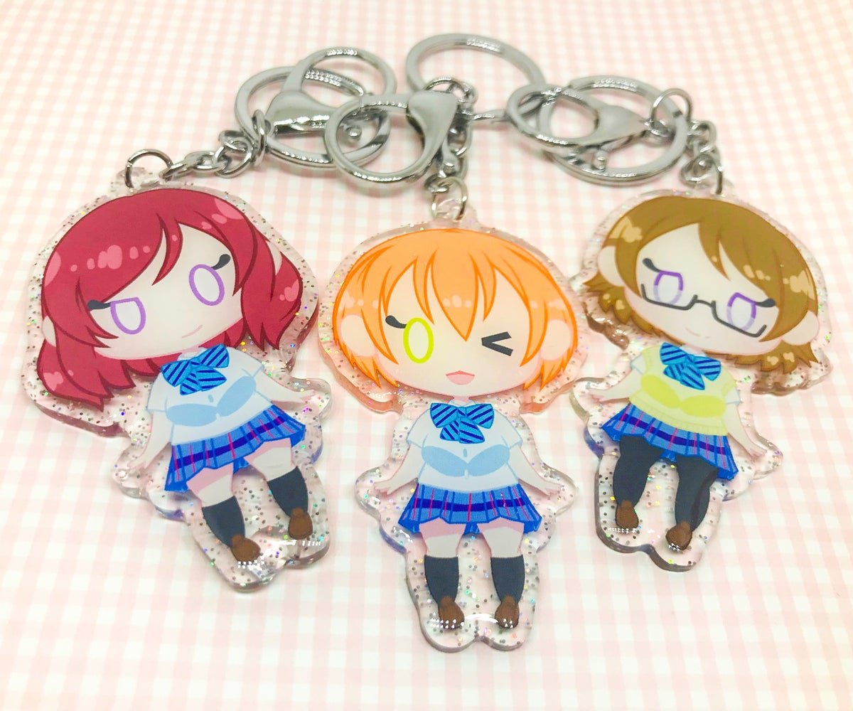 """Image of Love Live! Muse 2.5"""" Glitter Charms"""