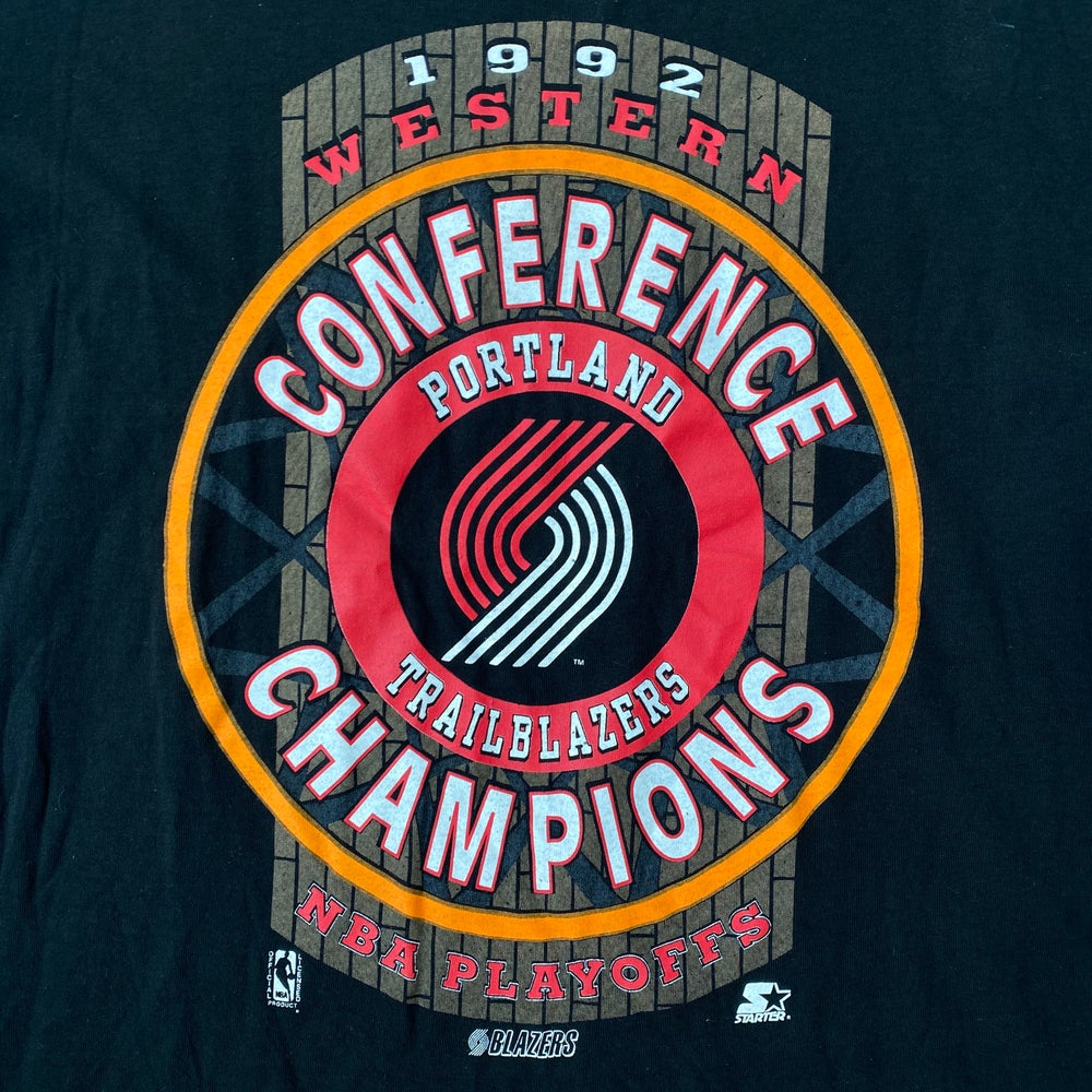 Image of Deadstock Vintage 1992 Portland Trailblazers Western Conference Champs Tee