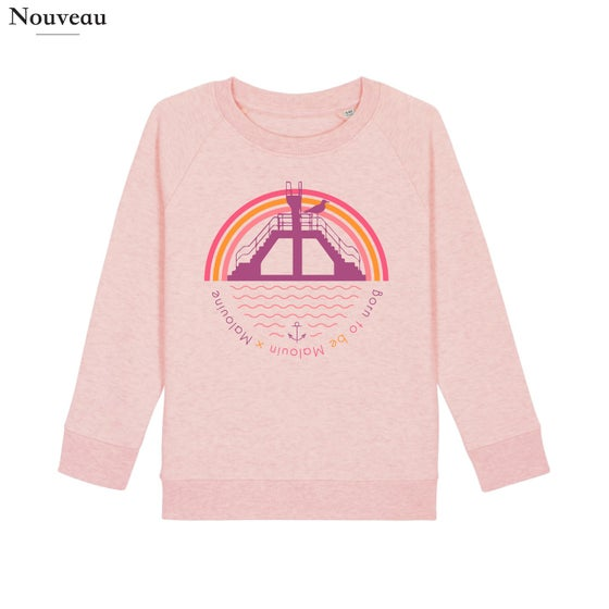 Image of SWEAT PLONGEOIR KIDS - ROSE