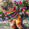 Kids Long Sleeve Rainbow Stripe Top
