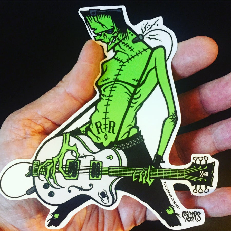 Image of ROCK N ROLL FRANKENSTEIN - Sticker