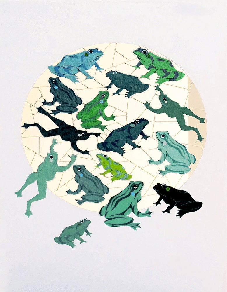 Image of Frogs Paper Cut Card