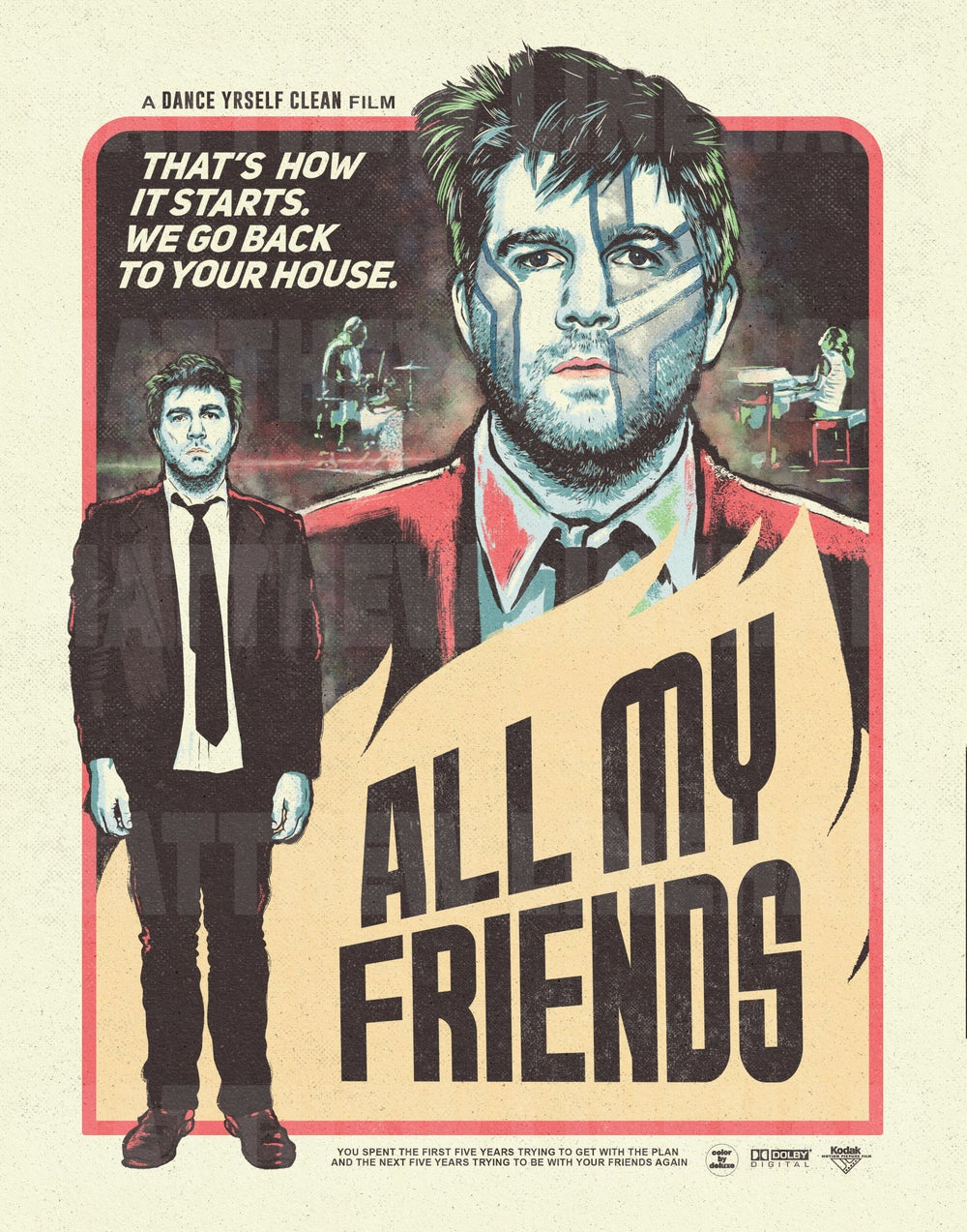 All My Friends Art Print