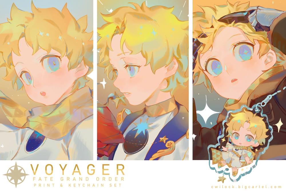 Image of VOYAGER print & keychain set