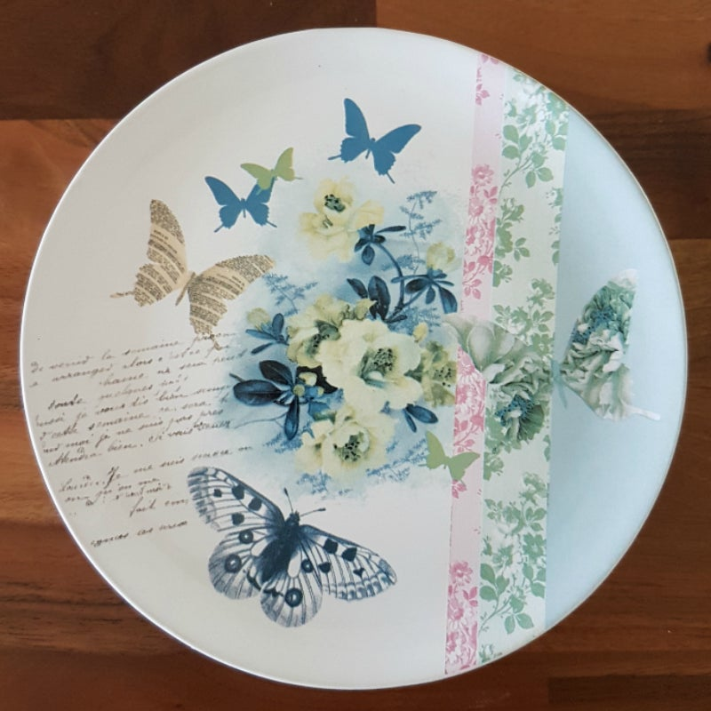Image of Butterfly Plates ~ Set of Four