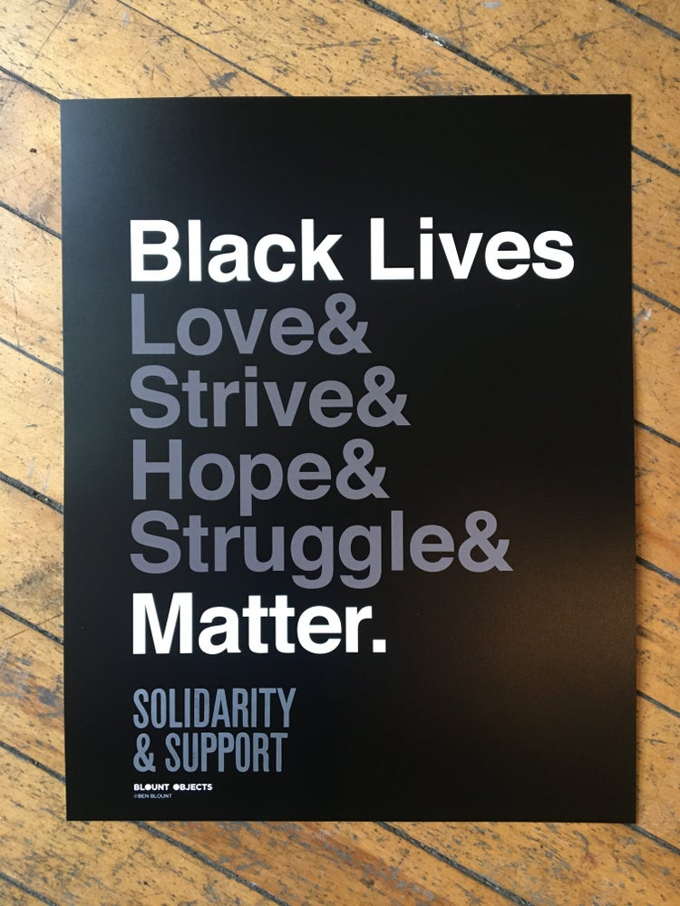 Image of Black Lives Matter Solidarity Poster