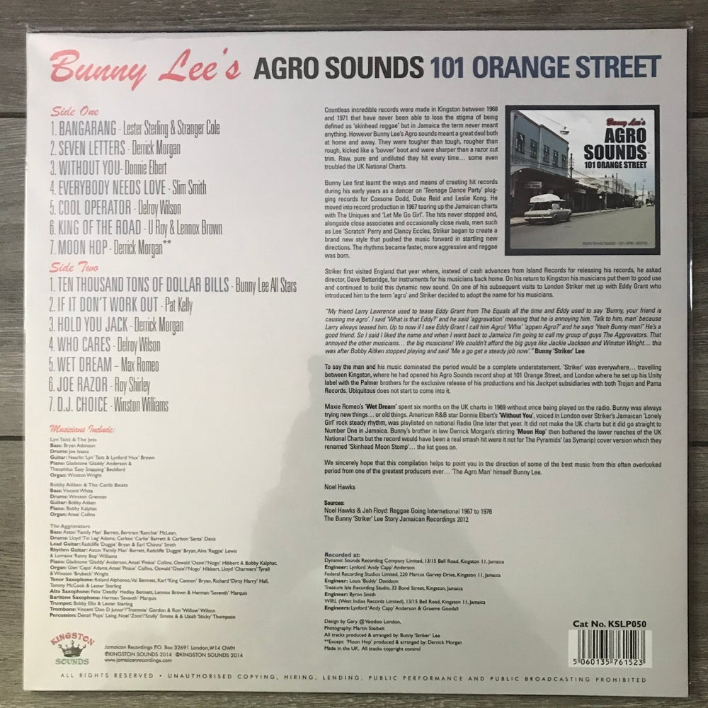 Image of Bunny Lee's Agro Sounds 101 Orange Street Compilation Vinyl LP