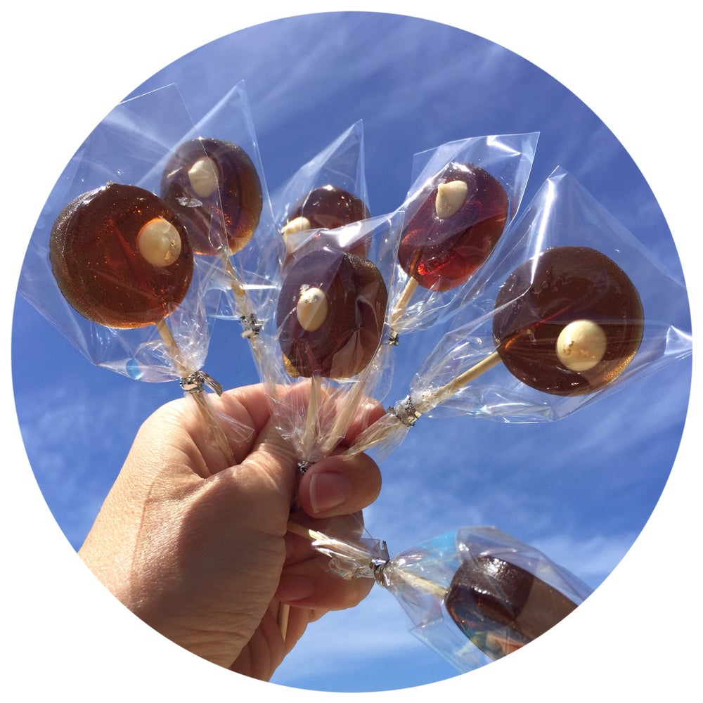 Image of Irish coffee Cocktail Lollipops