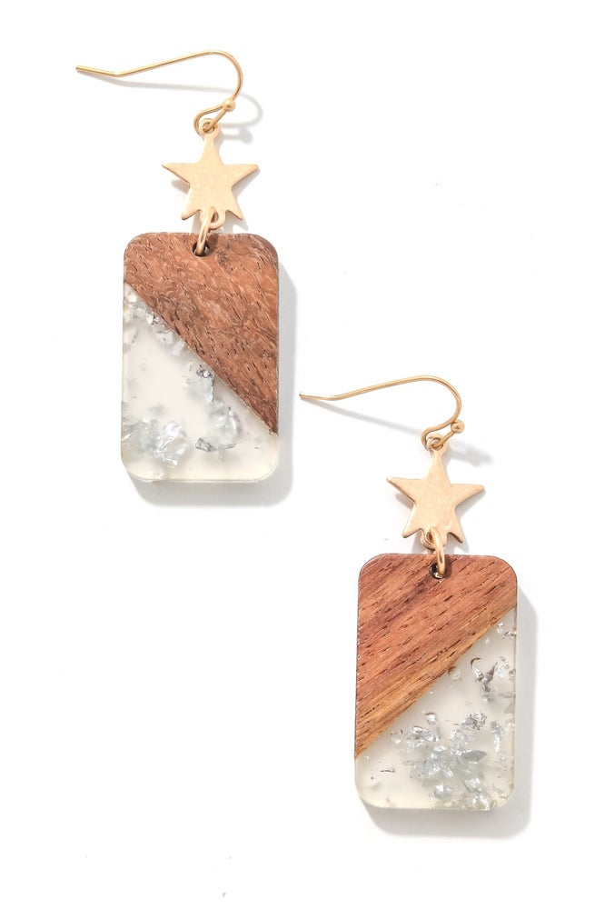Image of Artsy Rectangle Earrings {Org. $30}