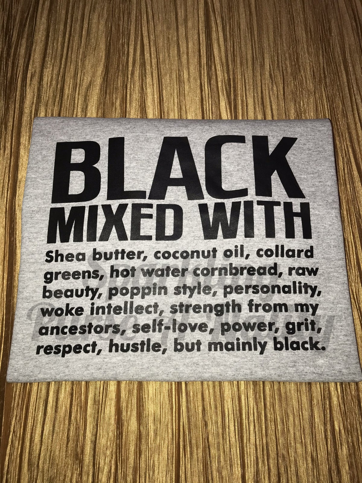 Image of Black Mixed With.....