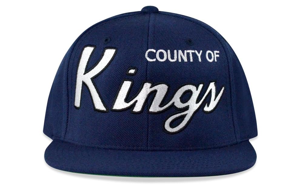 Image of COUNTY OF KINGS (NAVY/WHITE/BLACK) - SNAPBACK