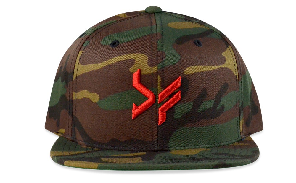 Image of BF LOGO - 3D (CAMO/RED) - SNAPBACK