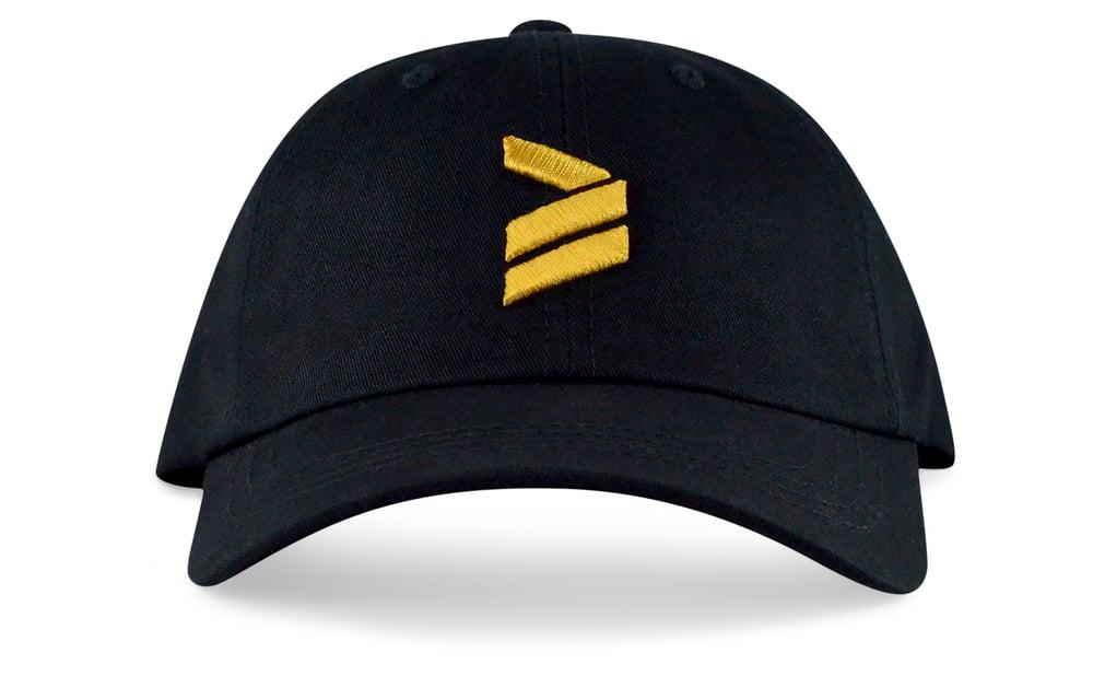 Image of ICON LOGO - 3D (BLACK/GOLD) - DAD HAT
