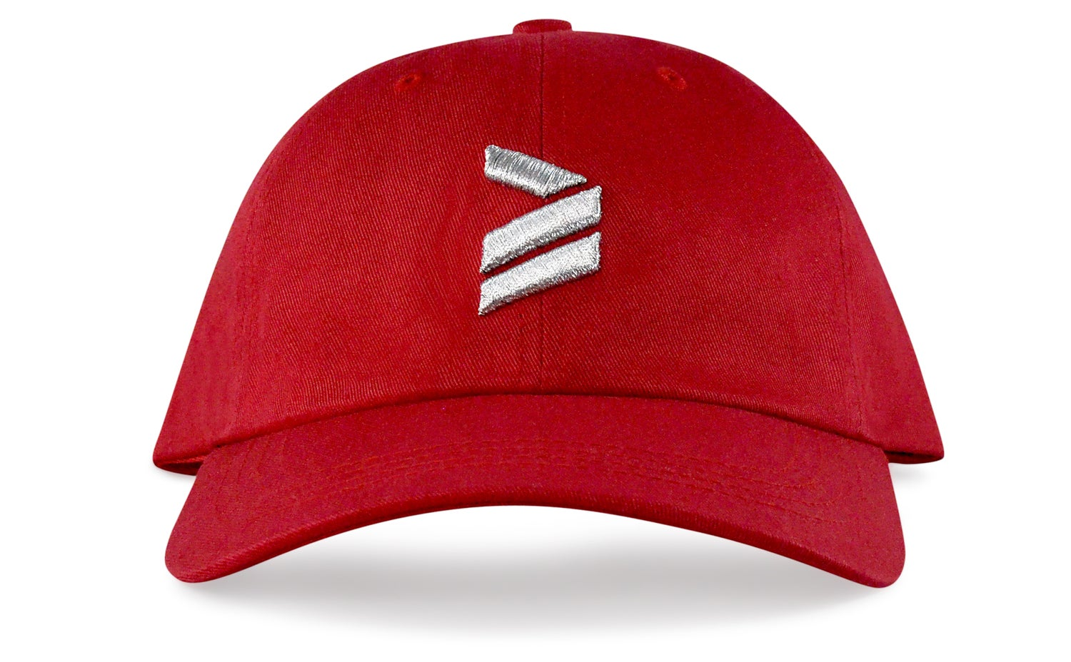 Image of ICON LOGO - 3D (RED/METALLIC SILVER) - DAD HAT