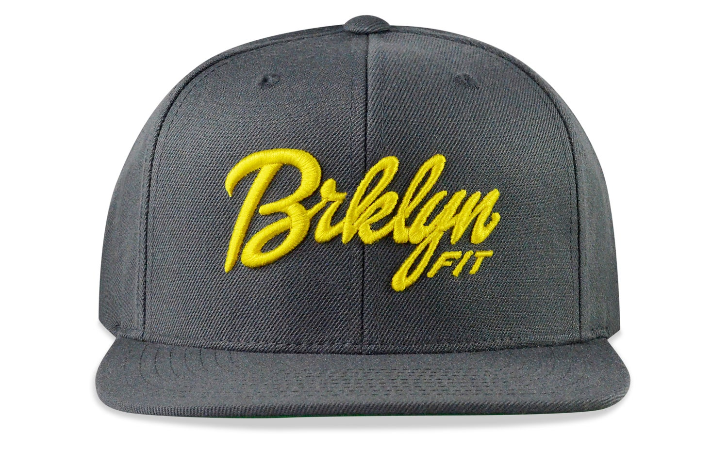 Image of BRKLYN FIT® LOGO - 3D (GREY/YELLOW) - SNAPBACK
