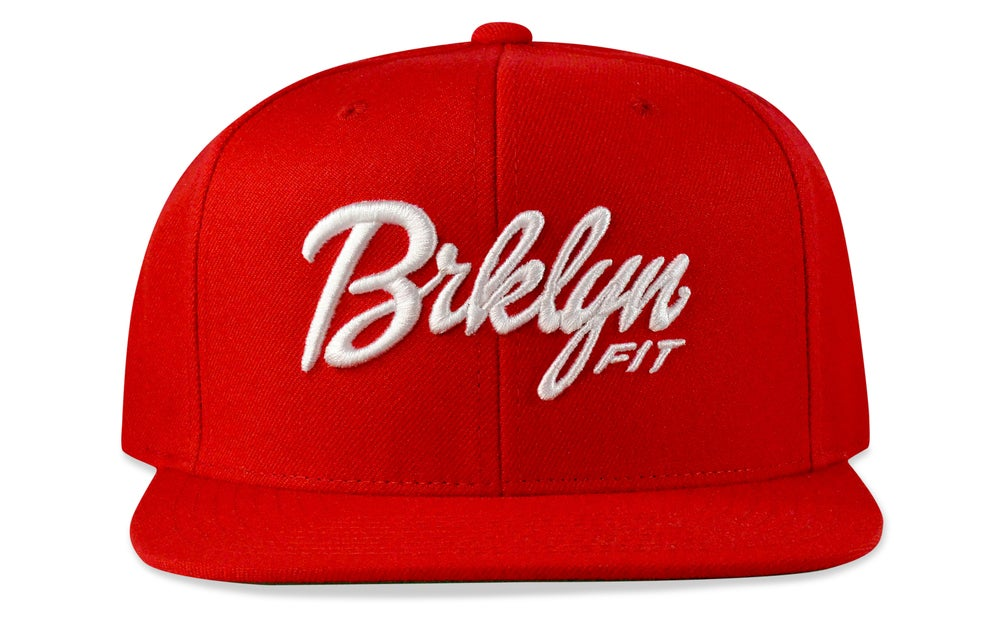 Image of BRKLYN FIT® LOGO - 3D (RED/WHITE) - SNAPBACK