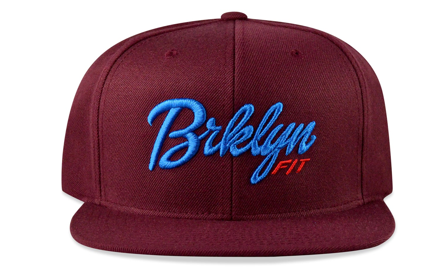 Image of BRKLYN FIT® LOGO - 3D (MAROON/BABY BLUE/RED) - SNAPBACK