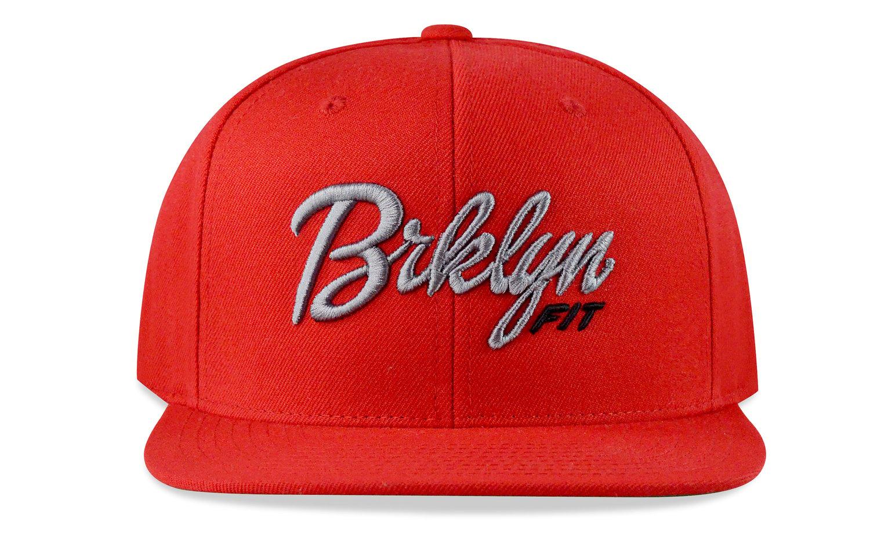 Image of BRKLYN FIT® LOGO - 3D (RED/GREY/BLACK) - SNAPBACK