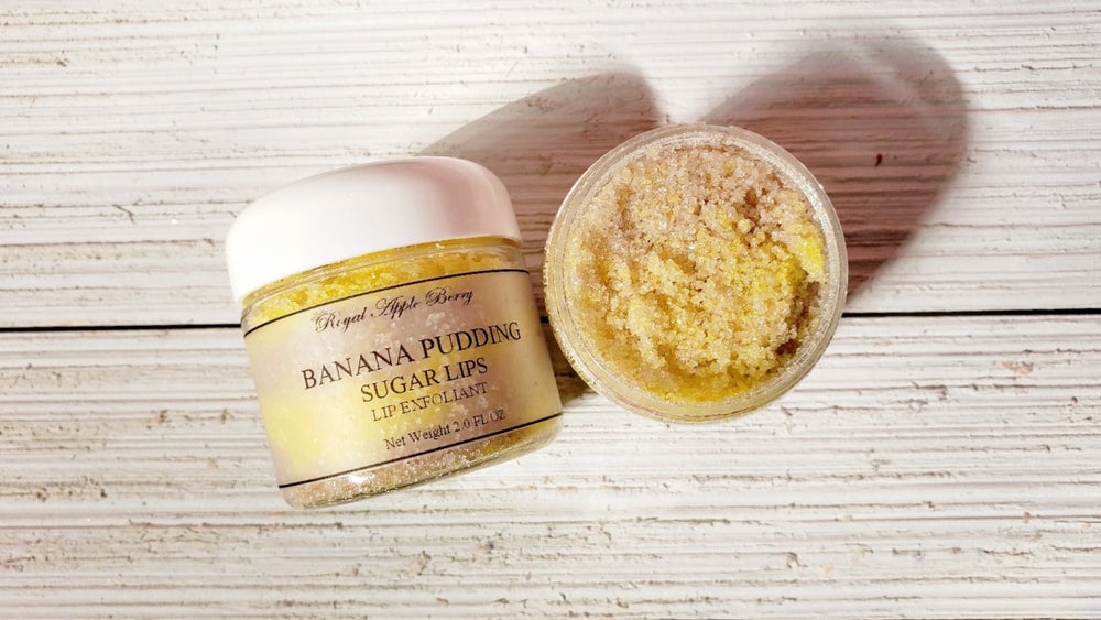 Image of BANANA PUDDING SUGAR LIPS LIP EXFOLIANT