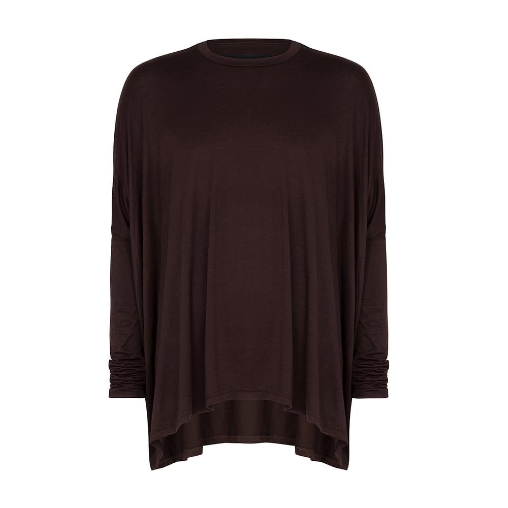 Image of Drape T-shirt Brown Oxide