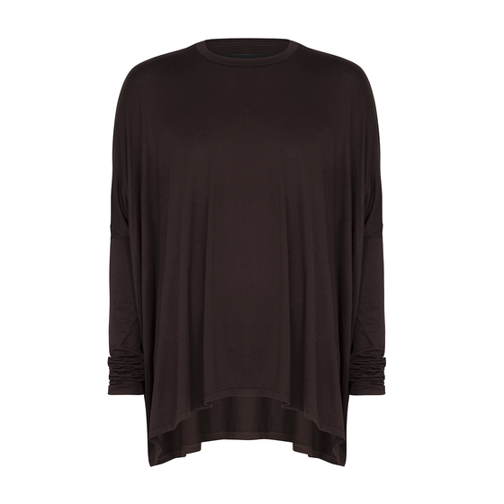 Image of Drape T-shirt Brown Oxide