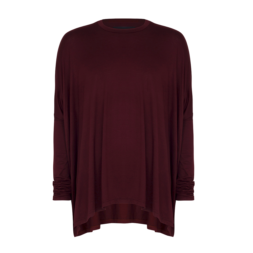 Image of Drape T-shirt Deep Crimson