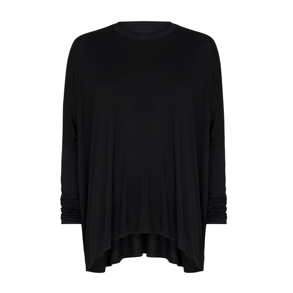 Image of Drape T-shirt Black