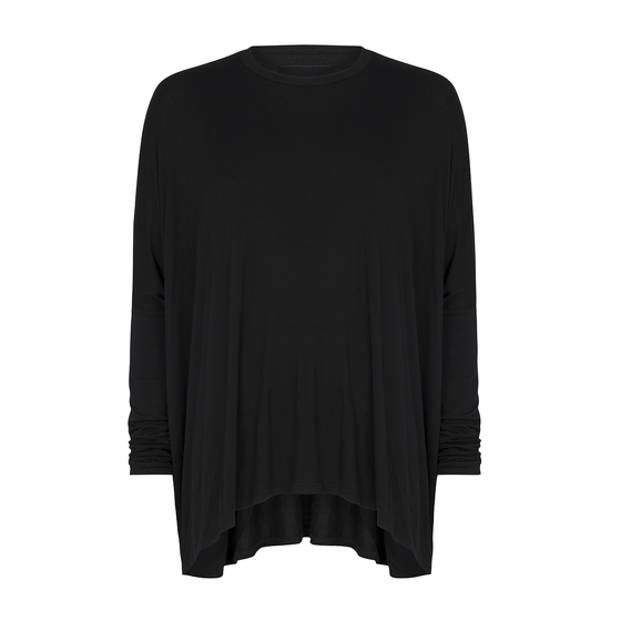 Image of Drape T-shirt Black