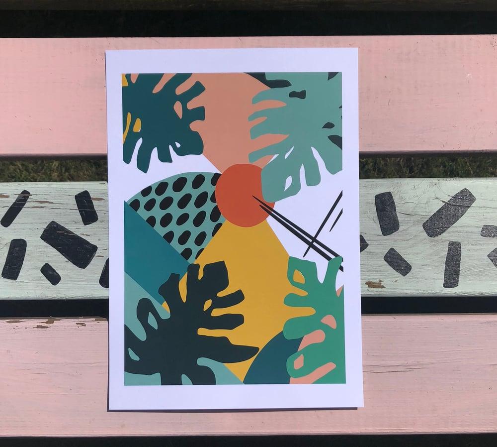 Monstera Pattern Print