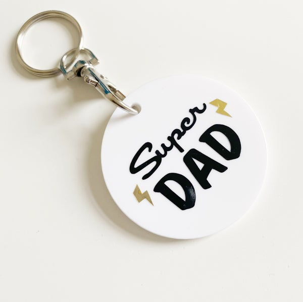 Image of SUPER DAD/FATHER'S DAY KEYRING