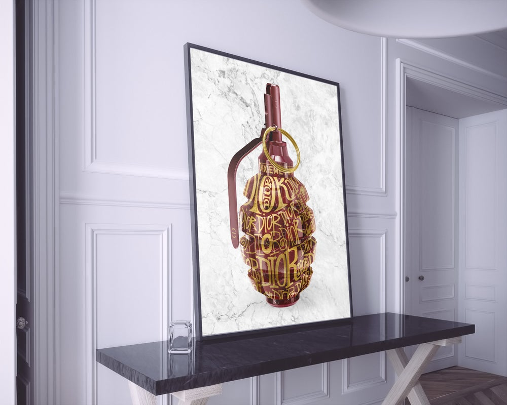 Image of MARBLE GRENADE x DIXIEME ART • LIMITED EDITION • 61 x 91 cm • FREE WORLDWIDE SHIPPING