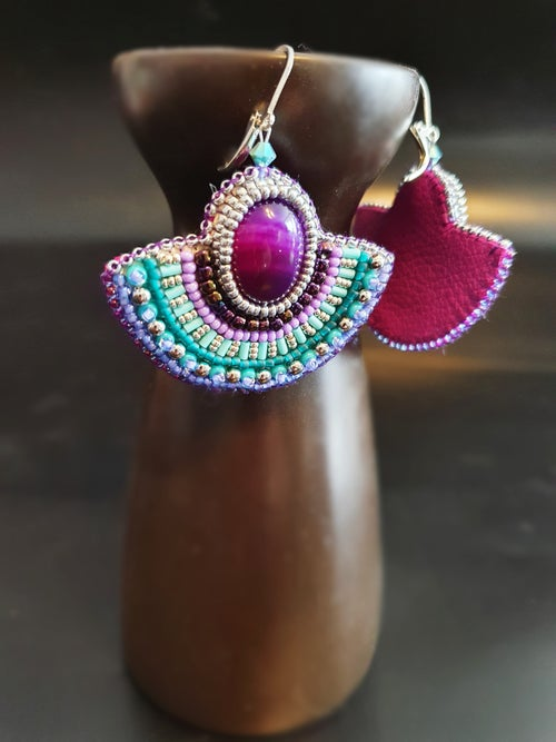 Image of Boucles d'oreilles PURPLE HORIZON