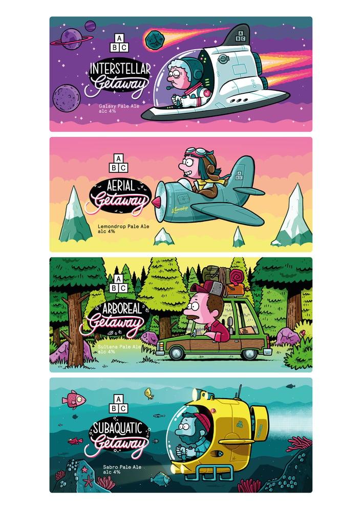 Image of ABC Getaway Series Print