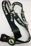 UK Birding Pins Lanyard - Black